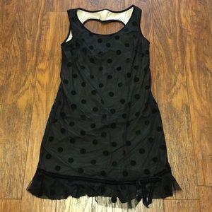 Betsy Johnson Black Dot Sweetheart Dress 8